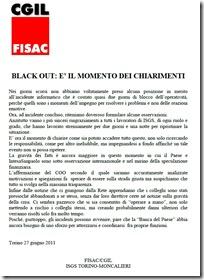 black out e chiarimenti