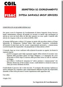 comunicato quadri sindacali