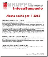 novità per il 2012
