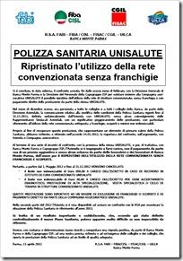 MONTE PARMA E POLIZZA SANITARIA