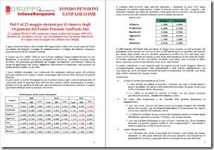 elezioni fondo pensioni sanpaolo imi