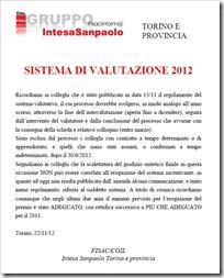 sistema valutazione 2012