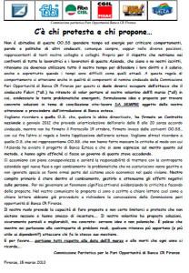 Banca CRFirenze - Gli orari, chi protesta e chi propone