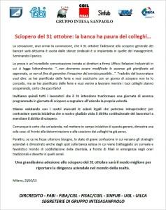 sciopero 31 ottobre