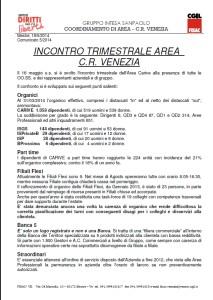 INCONTRO TRIMESTRALE 16052014